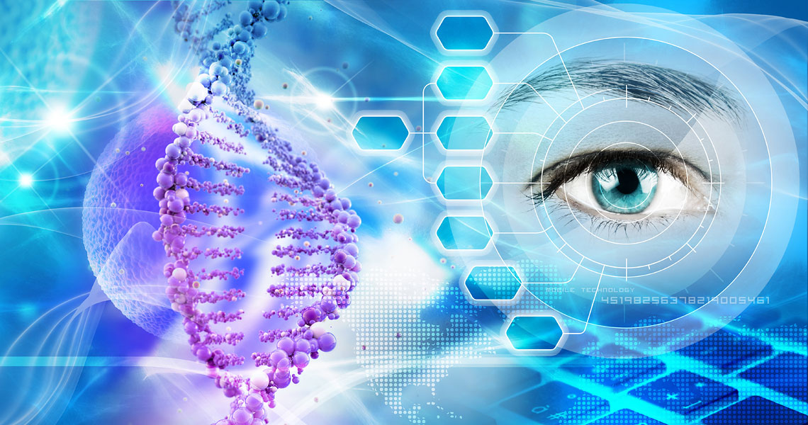 Genetic research concept